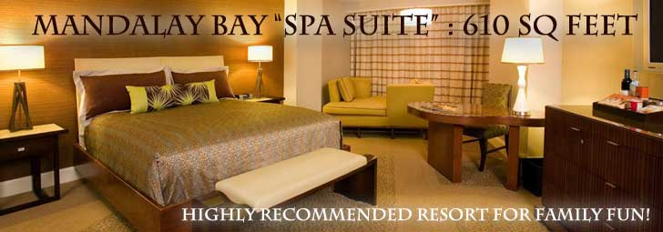 Spa Suite at the Mandalay Bay Las Vegas a perfect place to take the kids